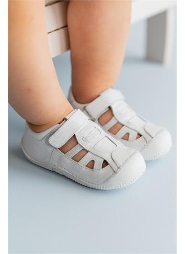 First Step Hakiki Deri İlk Adım Ayakkabısı -D-462 Beyaz